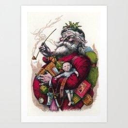 Victorian Santa Claus - Thomas Nast Art Print