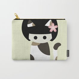 Calico Kokeshi Carry-All Pouch