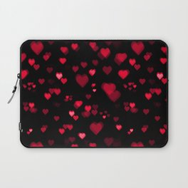 Red Bokeh Hearts Laptop Sleeve