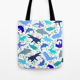 Prehistoric Sea Creatures Tote Bag
