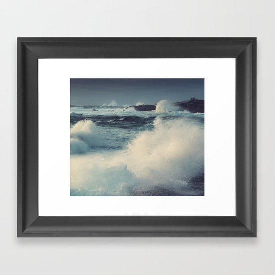 January Storm Framed Art Print