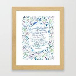 Be Humble & Gentle - Ephesians 4:2-3 Framed Art Print