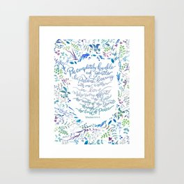 Be Humble & Gentle - Ephesians 4:2-3 Framed Art Print