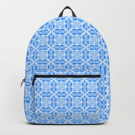 Blue Batik Blocks Backpack
