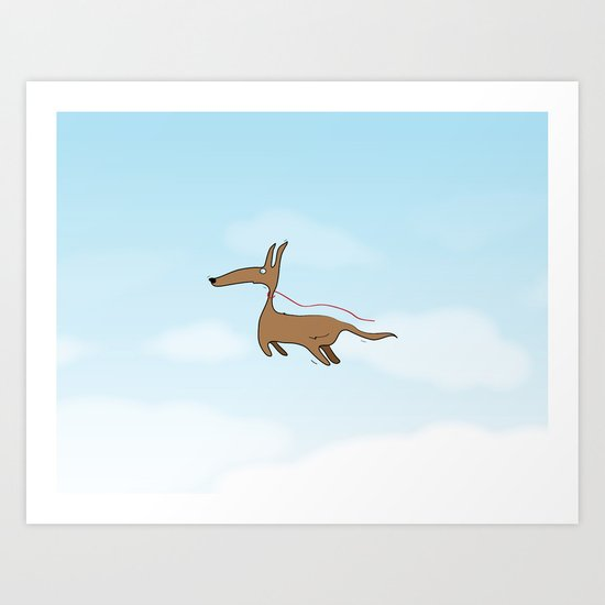 Finally Allowed to Fly Art Print