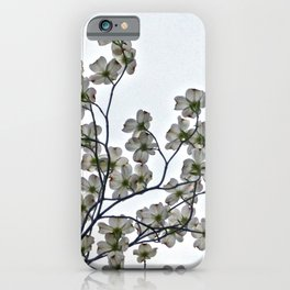 White Dogwood against a Gray Sky iPhone Case