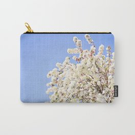White Cherry Blossoms Against Blue Sky Carry-All Pouch