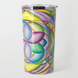 Vortex of Colors - The Rainbow Tribe Collection Travel Mug