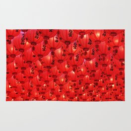 Big Red Great Luck Rug