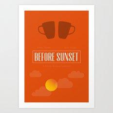 Before Sunset Art Print