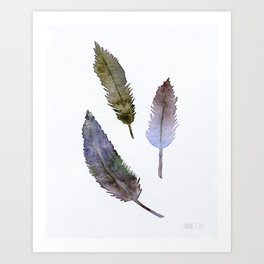 No. 064. Purple blue feathers Art Print