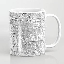 Cleveland White Map Coffee Mug