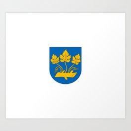 Flag of Stavanger Art Print