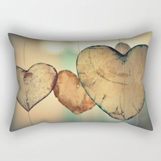 Vintage Boho Chic Bokeh Hearts Wind Chimes Rectangular Pillow