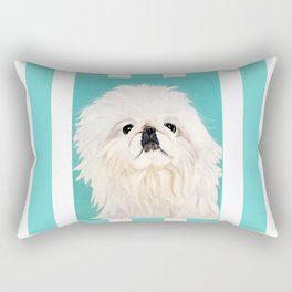 Peke Mishka Rectangular Pillow