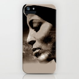 TALK TO THE LION... - sepia iPhone Case