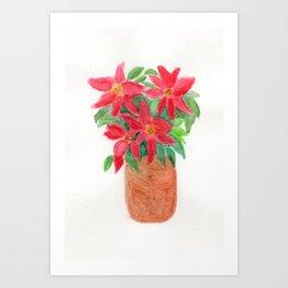 Christmas Flowers Art Print
