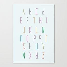 alphabet poster decor Canvas Print
