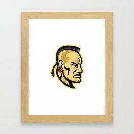 Native American Mohawk Mascot Framed Art Print