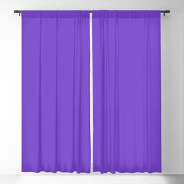 From The Crayon Box – Purple Heart - Bright Purple Solid Color Blackout Curtain