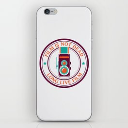 Film is not dead, long live film iPhone Skin