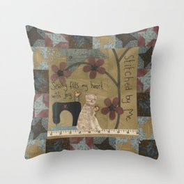 Stitched By Me Throw Pillow