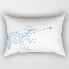 The frog and the fly Rectangular Pillow