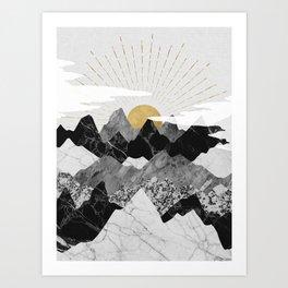 Sun rise Art Print