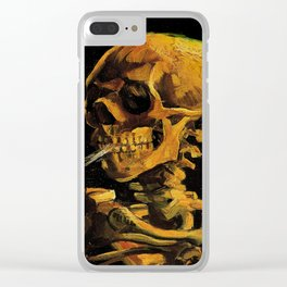 Van Gogh, Skull of a Skeleton with Burning Cigarette  – Van Gogh,Vincent Van Gogh,impressionist,post Clear iPhone Case