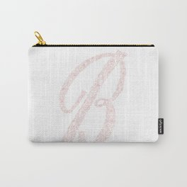 Letter B, Floral B, Monogram B Carry-All Pouch