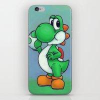 yoshi iPhone & iPod Skins featuring Yoshi by belindazart