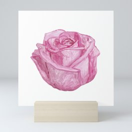 Pink Watercolor Rose Mini Art Print
