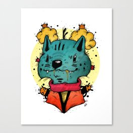Wolfy (Color Version) Canvas Print