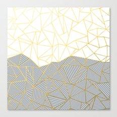 Ab Half and Half Grey Canvas Print