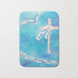 Love In Any Language Cross Bath Mat