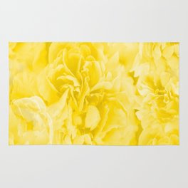 Yellow Peony Petals in Close-up #decor #society6 #buyart Rug