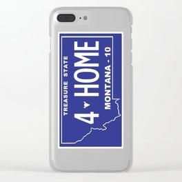 Montana Home - Missoula Clear iPhone Case