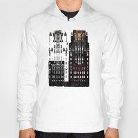 building Hoodies featuring Radiator Building by Steve W Schwartz Art