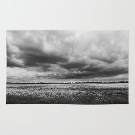 Landscape Photography | Dandelion Field | Canada | Black and White | black-and-white | bw Rug