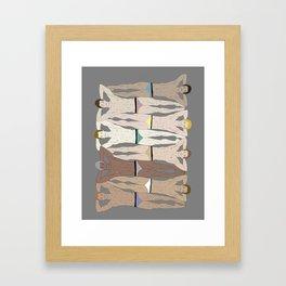 Sunbathers - Retro Male Swimmers Framed Art Print