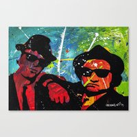 blues brothers Canvas Prints featuring Blues by veermania