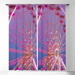 Red Wheel Blackout Curtain