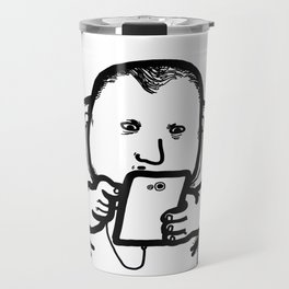 Cellphone Social Media Isolation Travel Mug