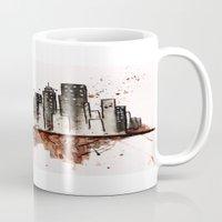 nyc Mugs featuring NYC by Rosalia Mendoza