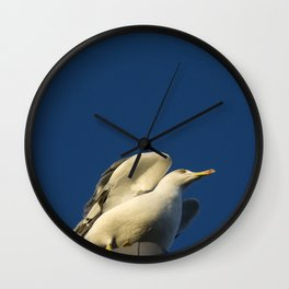 Waiting in the Wings Wall Clock