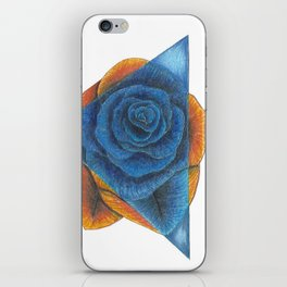 Orange and Blue Rose with Triangle iPhone Skin