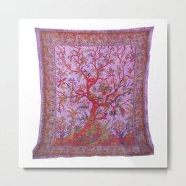 Tree of Life Tapestry Hippie Metal Print