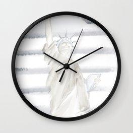 Lady Liberty • Americana Sepia Wall Clock