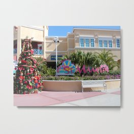St Maarten Christmas Tree Metal Print