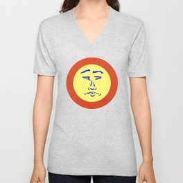 Suspicious Face (Not So Happy) Unisex V-Neck